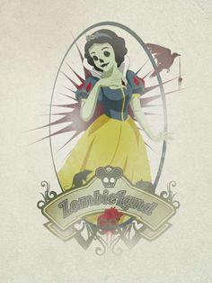 Zombie Disney Princesses  Miguel Gutierrez Depicts Childhood Heroines as Undead Villains #snowwhite #princesses