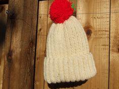 Cream bobble hat