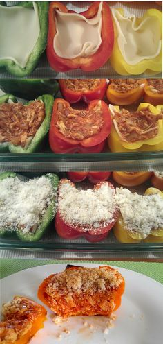 Chicken Parmesan Stuffed Peppers no breadcrumbs