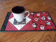 Snowman Candle Mat Quilt Kit Complete precut
