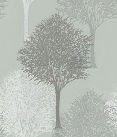 Entice (110097) - Harlequin Wallpapers - A beautiful overlapped tree design with a bead effect showing in silver/grey beads, white and grey on metallic duck egg green - other colour ways available. Please request a sample for true colour match. Non-woven product but please paste the paper.