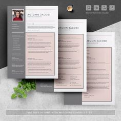 Resume Template 3 Page CV Template Cover Letter / Instant | Etsy Great Resumes, Resume Examples, Resume Cv, Resume Design, Cover Letter Template, Letter Templates, Resume Template Free, Free Resume, Create A Resume