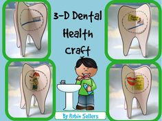Dental Health Craft - 3D Tooth Brushing Sequencing Craft from Robin Sellers on TeachersNotebook.com -  (11 pages)  - Dental Health Craft - 3D Tooth Brushing Sequencing Craft