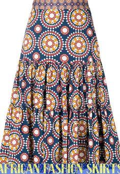 La Doublej Printed Full Skirt - Women's style: Patterns of sustainability African Print Skirt, African Print Dresses, African Dress, African Attire, African Wear, Full Skirt Outfit, Vintage Inspiriert, Latest African Fashion Dresses, Ankara Skirt