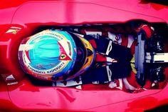 Fernando Alonso in the cockpit (Barcelona, 03-03-2013)