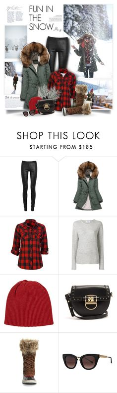 """Fun In The Snow"" by thewondersoffashion ❤ liked on Polyvore featuring Rick Owens, Just Female, Full Tilt, Majestic Filatures, The Elder Statesman, Balmain, SOREL and Thierry Lasry"