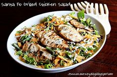 Sante Fe Grilled Chicken Salad with Cilantro Dressing -- This will change your views on salads for dinner! So good & filling!