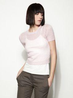 mohair cap sleeve sweater