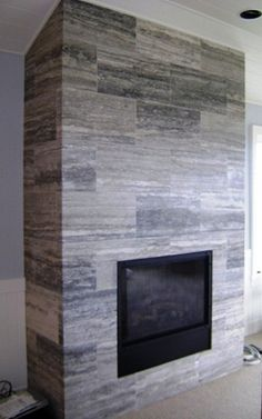 Silver travertine fireplace Silver Travertine can be found in our