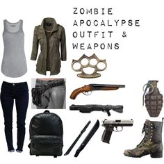 Zombie Apocalypse Outfit & Weapons(: