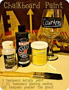 Chalkboard paint recipe on my new blog!!