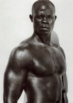 Djimon Hounsou by Peter Lindbergh 2007. Handsome and very distinctive voice. I love the timbre. via Zenobia S