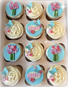 Mother's Day cupcakes.....