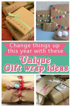 diy home sweet home: Unique Gift Wrapping Ideas
