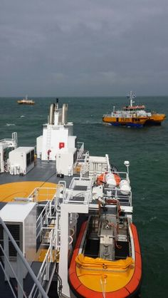 Pilotvessel Procyon and two swath's Cetus and  Perseus.