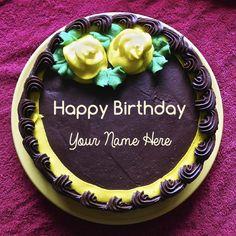 The Name Dear Nisha Is Generated On Strawberry Border Birthday