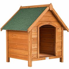 niche pour chien en bois massif