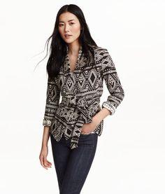 Jacquard-weave Cotton Jacket | Product Detail | H&M