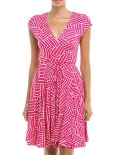 Pink and white wrap, can't go wrong! 95% Rayon / 5% Spandex Made in USA
