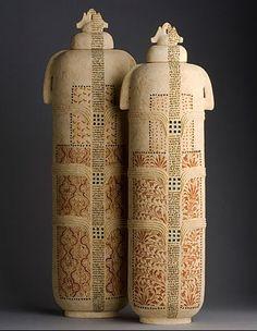 Amazing ceramic vessels from artist Avital Sheffer.