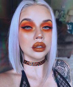 Glam little ghoul ? Do you like candy corn? Glam little ghoul ? Do you like candy corn? Eyesh… Glam little ghoul ? Do you like candy corn? Glam little ghoul ? Do you like candy corn? Goth Makeup, Beauty Makeup, Hair Makeup, Hair Beauty, Candy Corn, Sugarpill Cosmetics, Eyeshadows, Orange Makeup, Halloween Eye Makeup