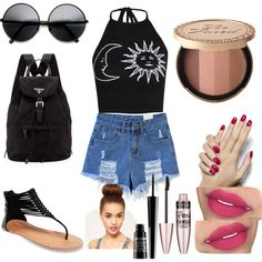 Untitled #63 by kittinvouge on Polyvore featuring polyvore fashion style Boohoo Wet Seal Prada Lord & Berry Maybelline