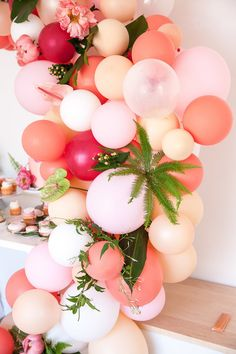 pink balloon installation | Wedding & Party Ideas | 100 Layer Cake