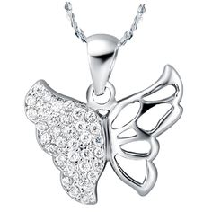Find More Pendant Necklaces Information about 2015 New Popular Buterfly Shape Pendants With Silver Chain Jewelry Necklaces For Women CZ Diamond Collares De Piedras N594,High Quality necklace anime,China necklace cotton Suppliers, Cheap necklace sport from Ulovestore Fashion Jewelry on Aliexpress.com