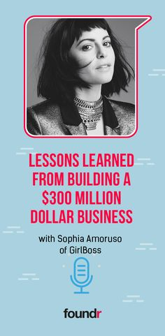 Sophia Amoruso is all that and more & she shares with us lessons from her colorful career, and what's next. Starting Your Own Business, Start Up Business, Business Tips, Business Quotes, Business Coaching, Online Entrepreneur, Business Entrepreneur, Email Subject Lines, Writing A Business Plan