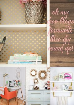 i love me a good Ikea Hack or DIY, the simpler the better! So I rounded up a few of my favourite from Pinterest and three of our own we did here on Oh My Dear Blog. I am a huge fan of everyt…