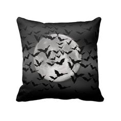 Bats and a Full Moon Pillow ($36) ❤ liked on Polyvore featuring home, home decor and throw pillows