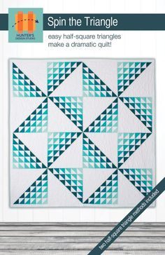 Spin the Triangle- easy half square triangles. #ombrefabric #easyquilting