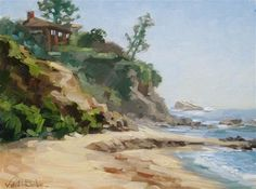 "Daily Paintworks - ""Little Corona Beach"" - Original Fine Art for Sale - © Karen Werner"