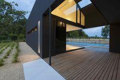 Dinesen wooden flooring in outside concrete house