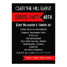 Surprise 40th Birthday Party Invitation Personalized Invites Wording Wedding