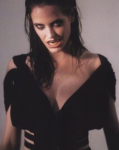 Eva Green, gorgeous creature of the night. (from Dazed & Confused [UK], 2005)