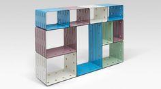 Марк Ньюсон создал декоративный стеллаж для Galerie Kreo. Дизайнер разработал систему модульных стеллажейQuobus специально к открытию нового пространства художественной галереиGalerie Kreo в Лондоне.