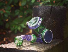 Purple lollipop sherlock by Kelly Chasteen
