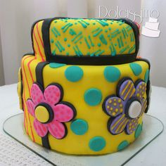 Britto Cake Teen Cakes, Girl Cakes, Beautiful Cakes, Amazing Cakes, Patchwork Cake, Food Artists, Adult Birthday Cakes, Gateaux Cake, Colorful Cakes