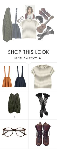 """Dodie Clark"" by the-cheap-bouquet ❤ liked on Polyvore featuring Baimomo, Monki, Goroke, Trasparenze, Frye and Rock 'N Rose"