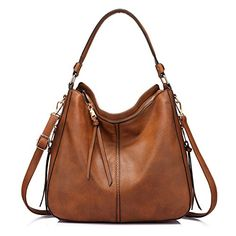 7dce2cb4138d Shoulder Bags for Women Large Ladies Crossbody Bag with Tassel - Large  Light Brown - Bags
