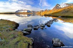 Rosset Lake, Gran Paradiso National Park, Piemont, Italy