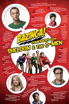 """- 36"""" x 24"""" (91 x 61 cm) full-size color poster - 18 memorable quotes from Sheldon, Leonard, Howard, Raj, and Penny - The earliest comebacks from the first five seasons - A must have for all Big Bang"""