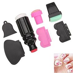 ACE 7pcs/lot Nail Art Stamping Polish Stamper Image Paint Stamp Scraper Knife Set Manicure Template Tools * Details can be found by clicking on the image.