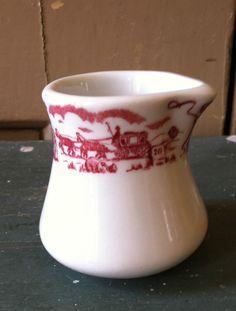 Howard Johnson's Individual Creamer  Caribe China Stagecoach  Excellent Vintage #HowardJohnsons