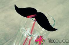 felt mustache from www.filcocuda.pl filc, wąs, dekoracje stołu, table decorations