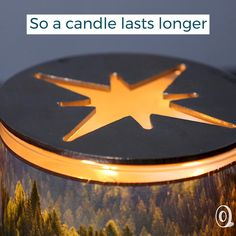 This USA-made decorative candle topper adds style to lit and unlit candles—and helps them burn more evenly. Candle Centerpieces, Diy Candles, Scented Candles, Diy Door, Eclectic Style, Unique Home Decor, Home Decor Accessories, Wax, Candle Holders