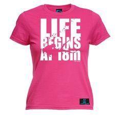 Open Water Women's Life Begins At 18m Scuba Diving T-Shirt