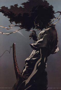 Afro Samurai more dramatic low angles. Without samurai gear lol Afro Samurai, Samurai Anime, Samurai Tattoo, Urban Samurai, Cardcaptor Sakura, Akatsuki, Anime Manga, Anime Art, Anime Girls