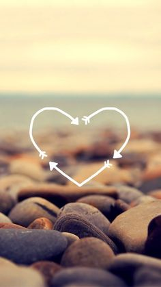 Imagen de wallpaper, heart, and stone